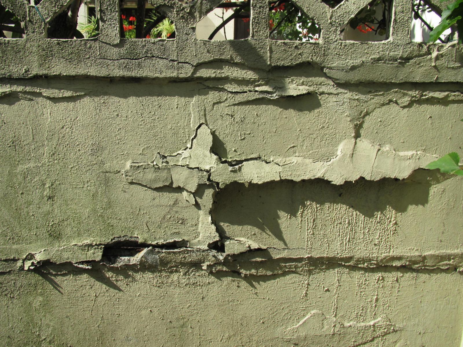 Mur ext rieurs abim s - Comment repeindre un mur ...