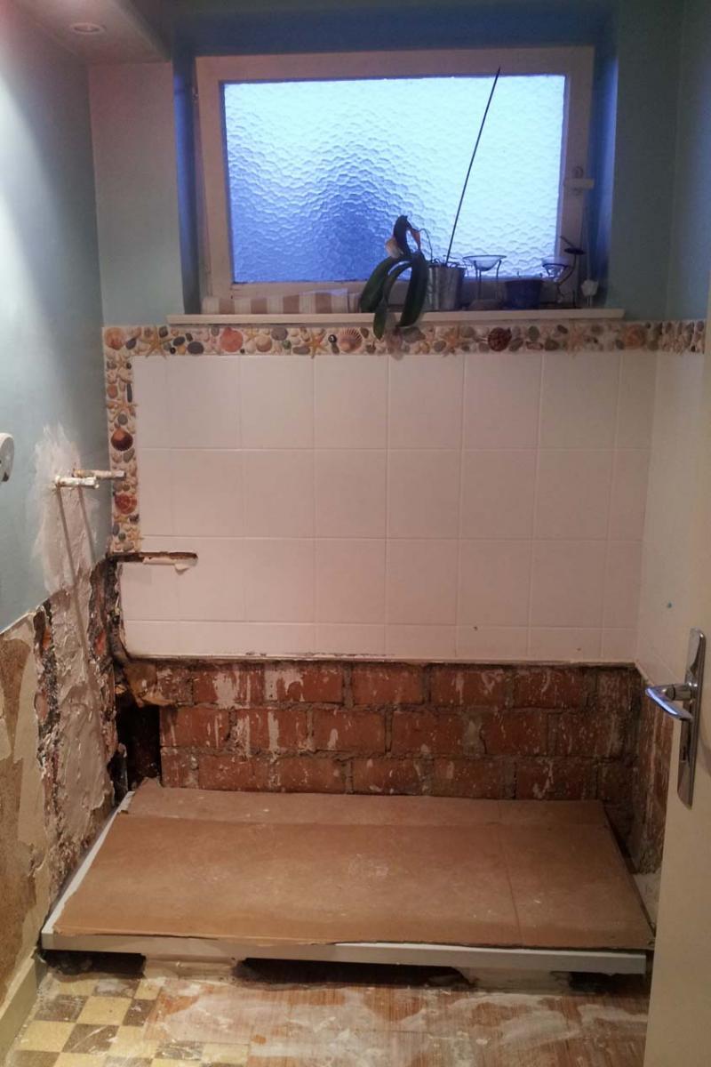 Enlever Du Carrelage Mural Sur Du Placo mise à niveau murs salle de bain avant carrelage
