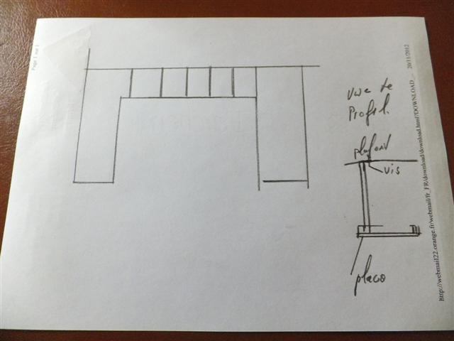 cloison placo et 39 39 grande ouverture horizontale 39 39. Black Bedroom Furniture Sets. Home Design Ideas