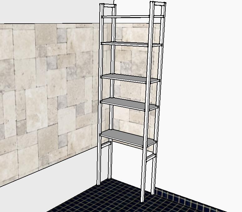 que mettre sur les pieds d 39 une etag re en pin dans salle de bain. Black Bedroom Furniture Sets. Home Design Ideas