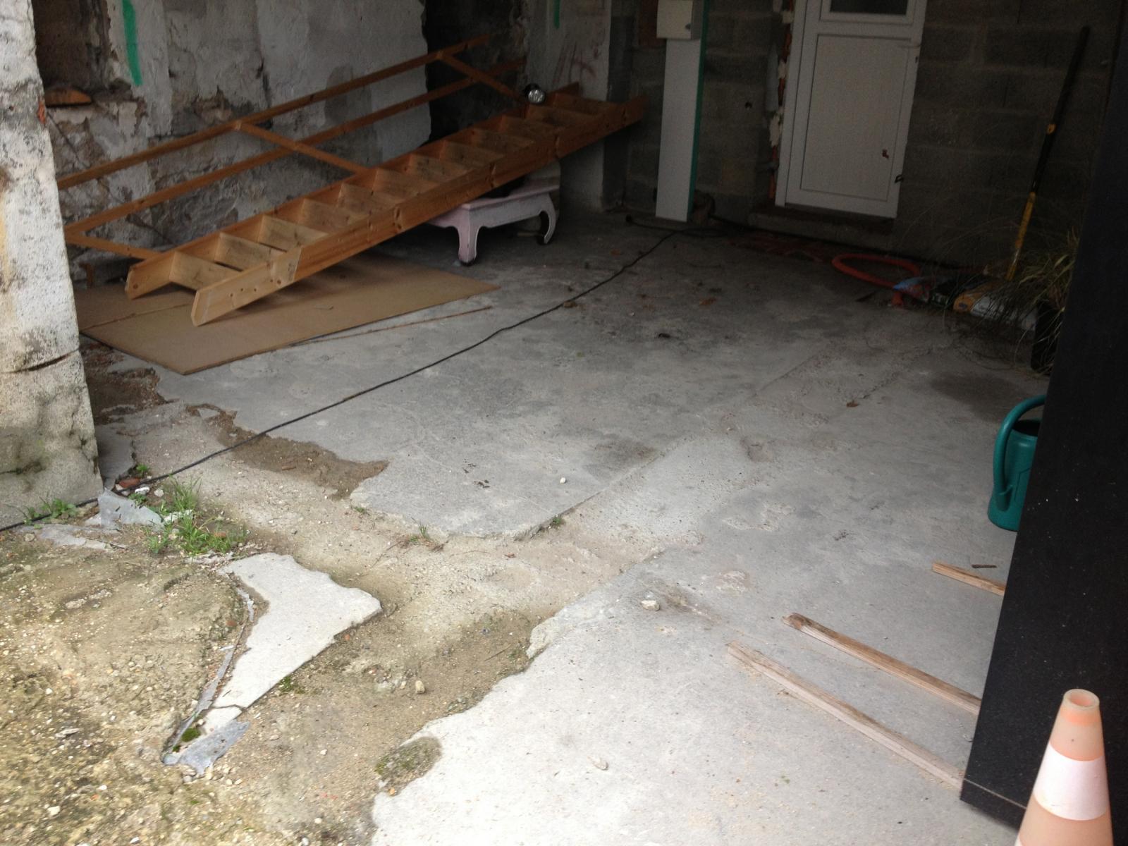Couler une dalle sur une dalle abim e for Couler une dalle beton
