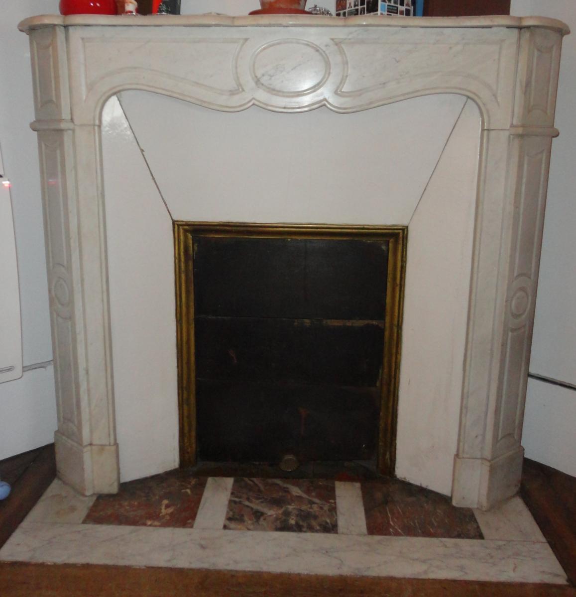Montage de chemin e en marbre - Ceruser une poutre de cheminee ...