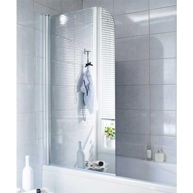 Fixation pare baignoire avec d calage mur carrelage - Pare baignoire miroir ...
