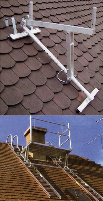 Installer un chafaudage sur une toiture ardoise for Prix de tuiles pour toiture