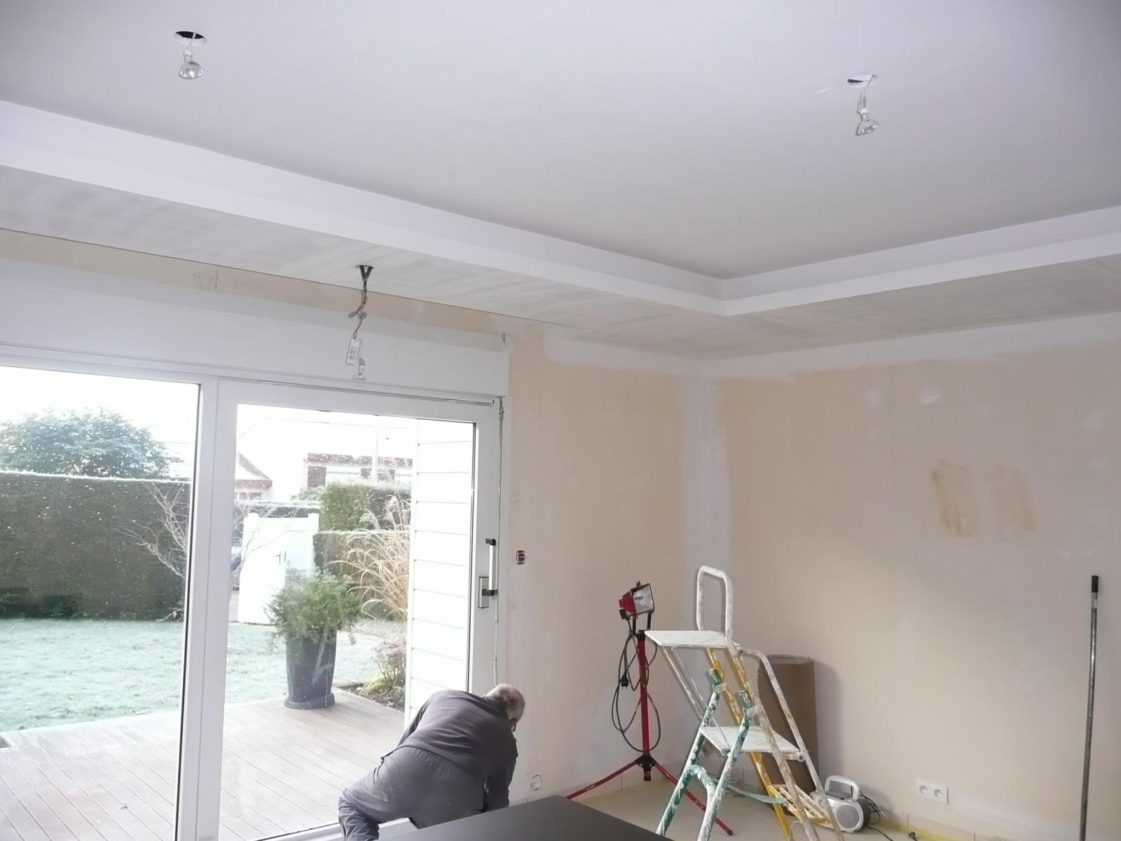 Faux plafond et coffrage de volets roulants for Ba13 pour plafond