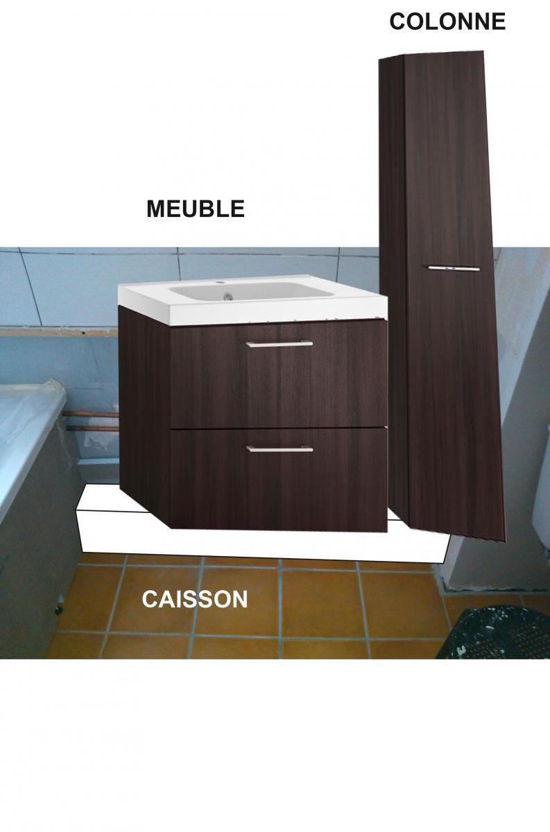 r aliser un caisson en placo pour supporter meuble salle de bain. Black Bedroom Furniture Sets. Home Design Ideas