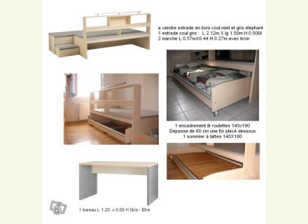 estrade pour 39 39 cacher 39 39 lit de 2 personnes. Black Bedroom Furniture Sets. Home Design Ideas