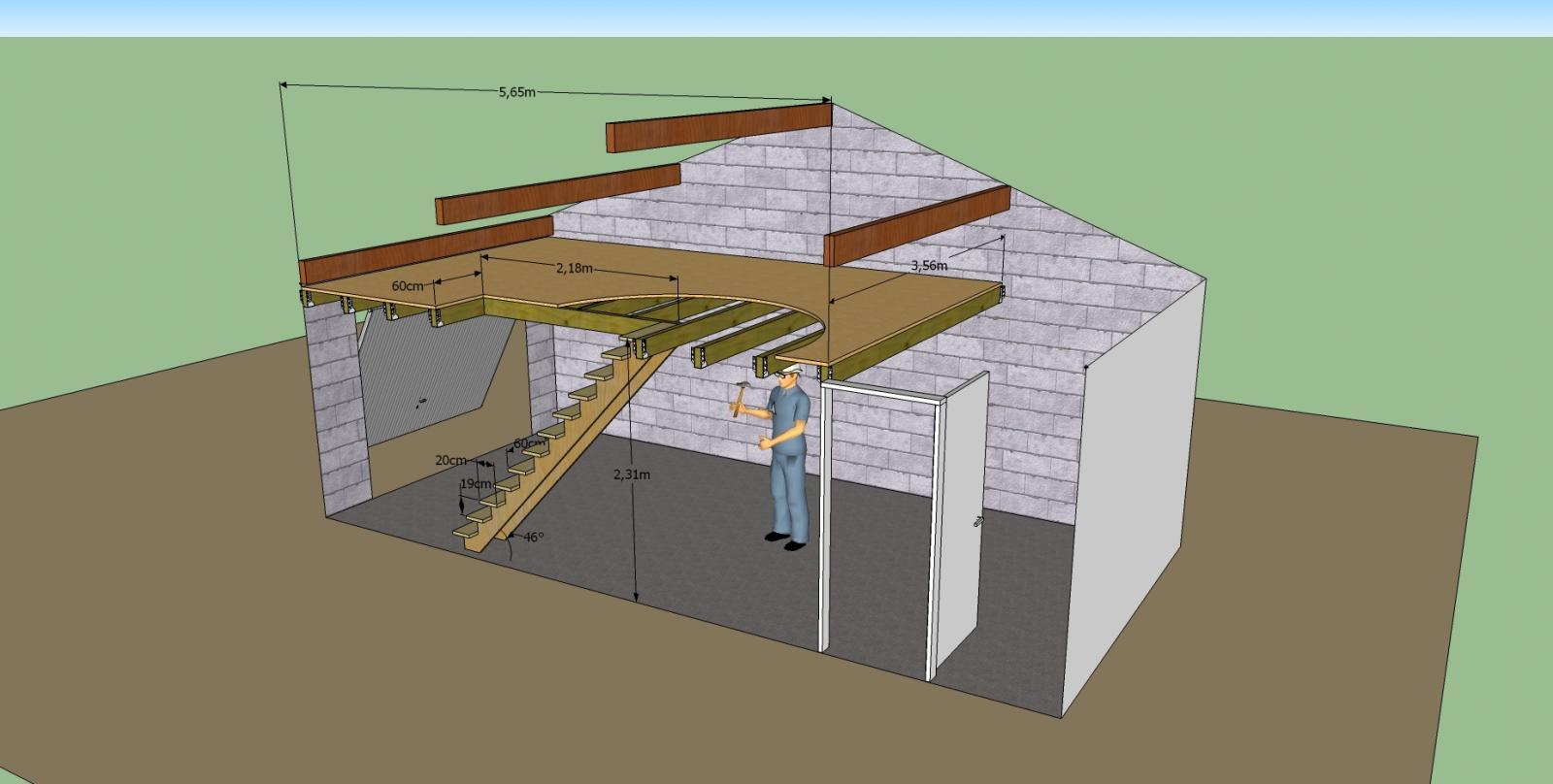 Aide pour une mezzanine - Comment construire son garage en parpaing ...