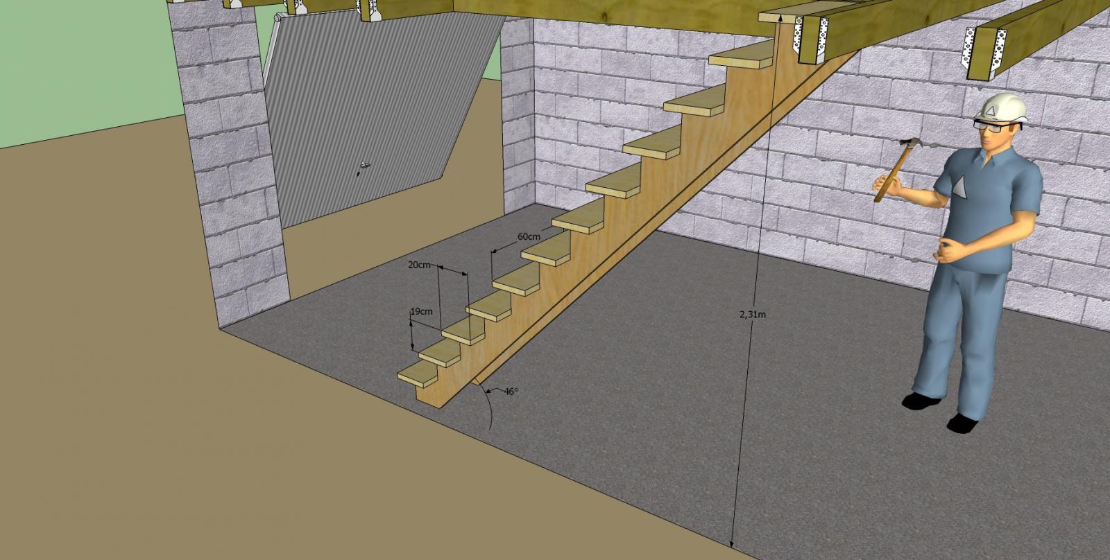 aide pour une mezzanine. Black Bedroom Furniture Sets. Home Design Ideas