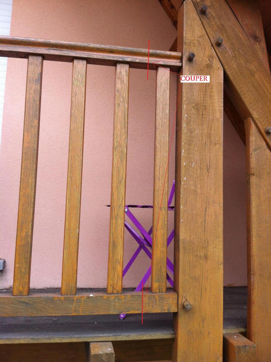 Rendre un garde corps de balcon d montable sur mon pavillon for Comgarde corps en bois pour balcon