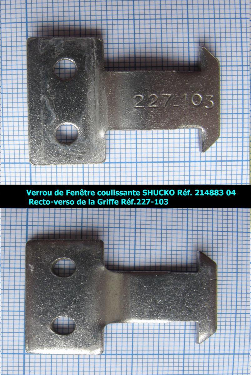 Recherche verrou et pene de fenetre coulissante schuco for Reglage porte fenetre coulissante