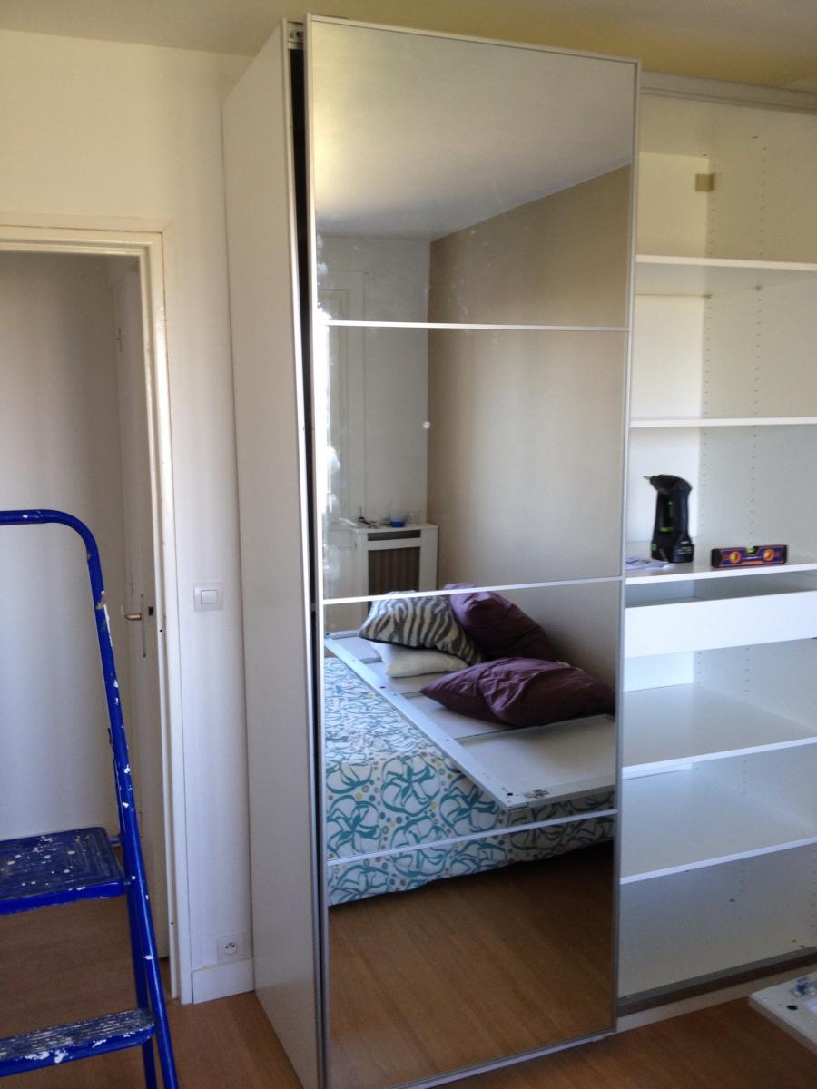 portes coulissantes armoire pax ike pas droites. Black Bedroom Furniture Sets. Home Design Ideas
