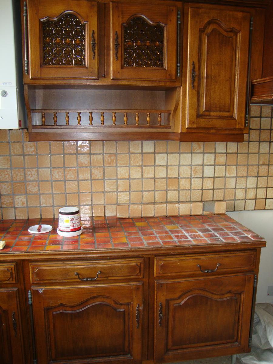 Renovation plan de travail et meuble de cuisine - Peinture stratifie cuisine ...