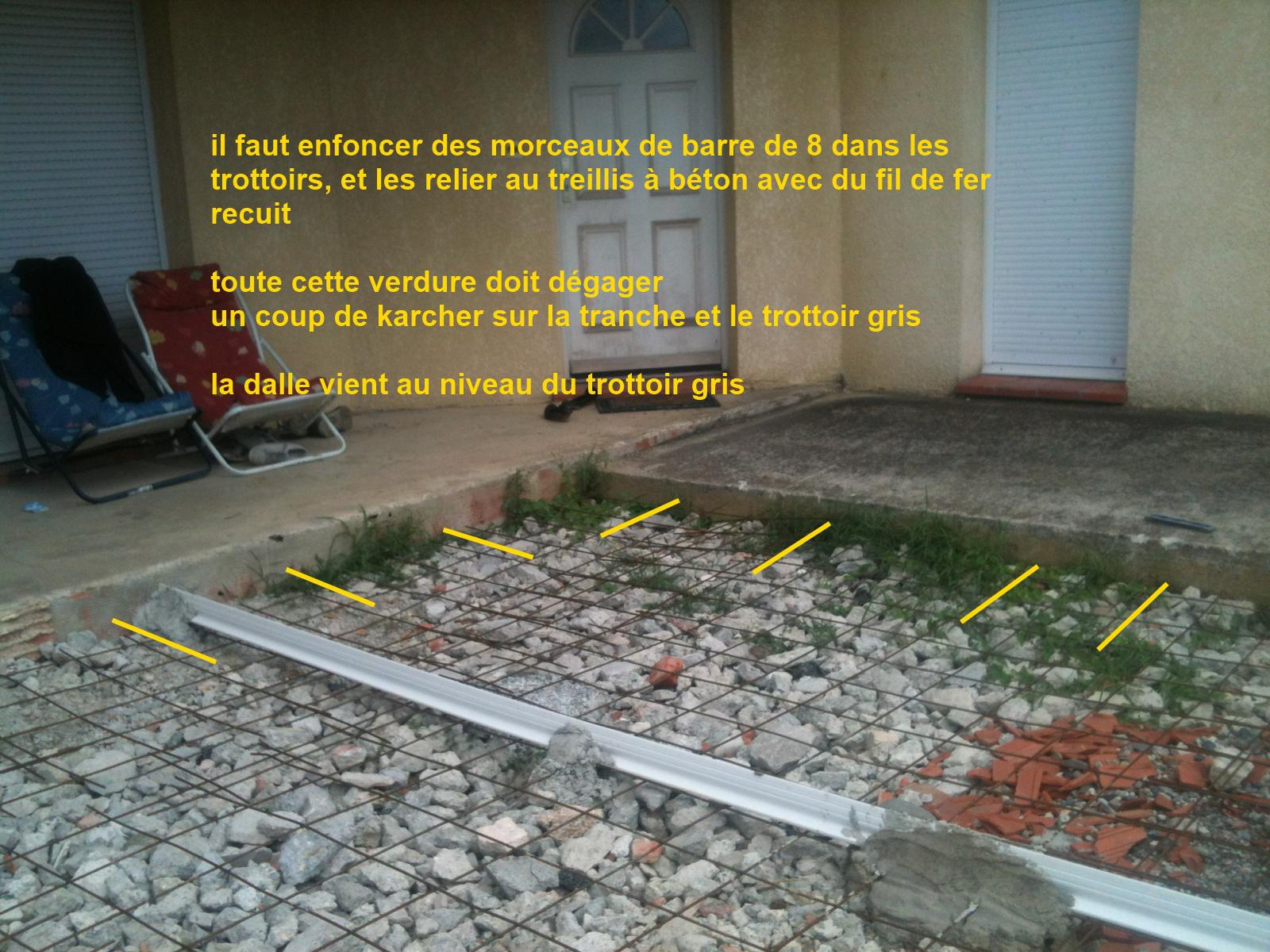 Dalle beton terrasse et chape maigre for Joint de dilatation carrelage exterieur