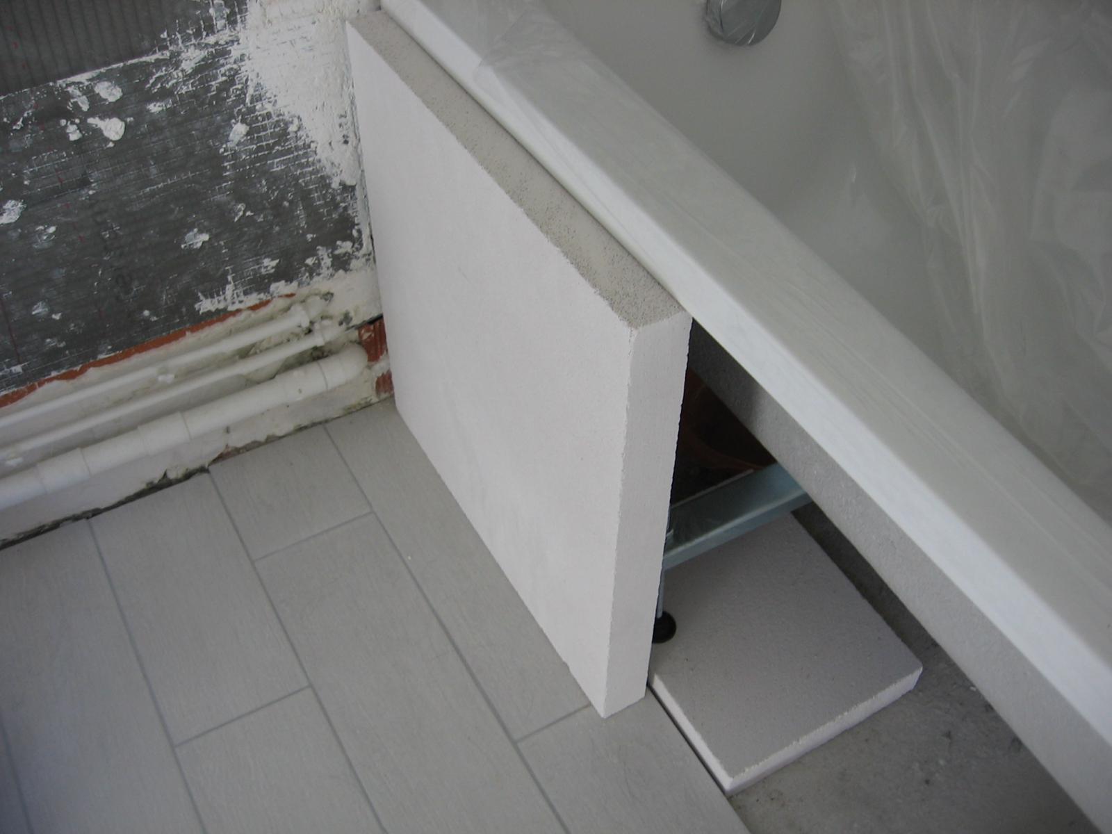 Salle de bains installation d 39 une baignoire - Siporex salle de bain ...