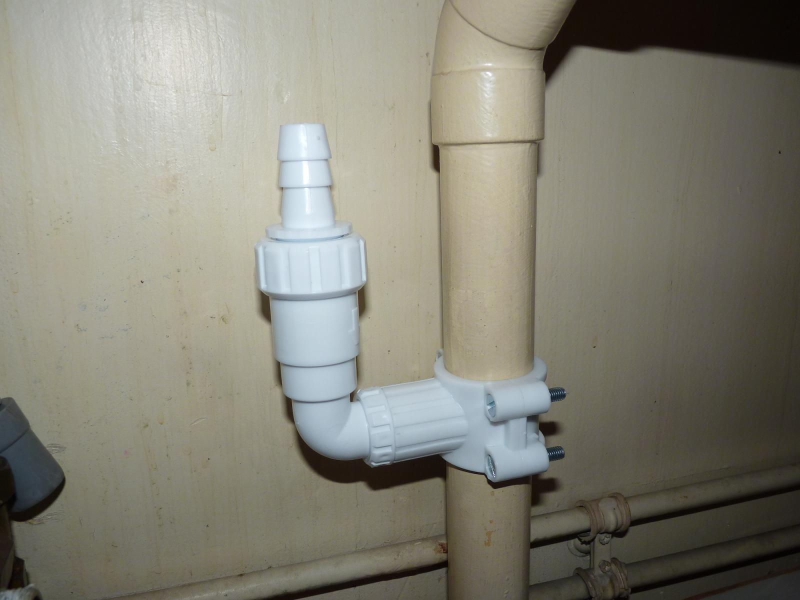 Dispositif auto foreur installation lave vaisselle - Evacuation lave vaisselle sur siphon evier ...