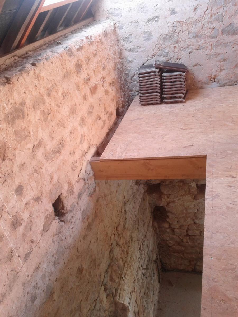 ossature / isolation, pente de toit, murs