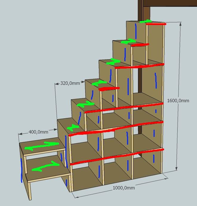 Quel bois pour escalier tag re - Fabriquer son lit mezzanine ...