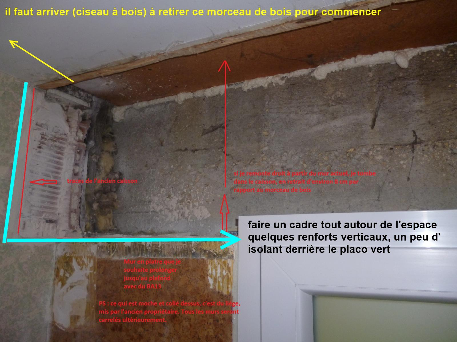 combler l u0026 39 espace laiss u00e9 libre suite  u00e0 la suppression d u0026 39 un coffre de volet