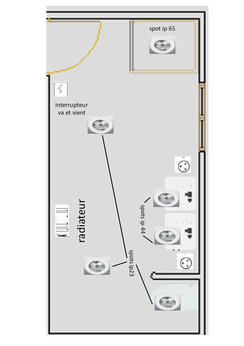 Demande d 39 aide lectricit salle de bain for Electricite salle de bain