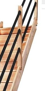 Rampe d 39 escalier pour chelle de meunier - Changer rambarde escalier ...