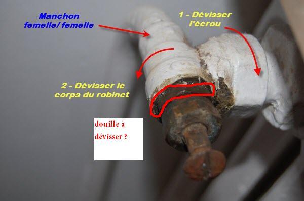 Remplacer robinet radiateur classique par thermostatique probl me de - Demonter un robinet thermostatique de radiateur ...
