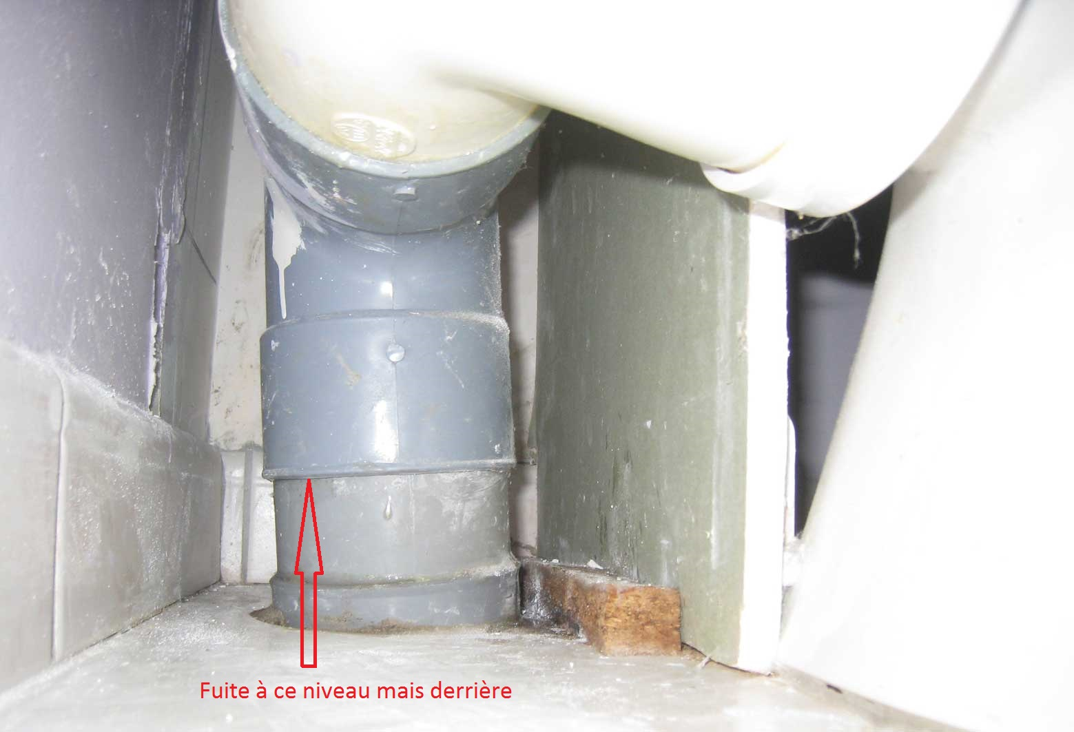 fuite vacuation wc. Black Bedroom Furniture Sets. Home Design Ideas