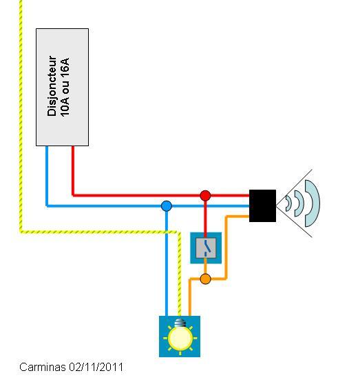 Circuit pour projecteur ext rieur detecteur interrupteur for Detecteur de presence pour eclairage exterieur