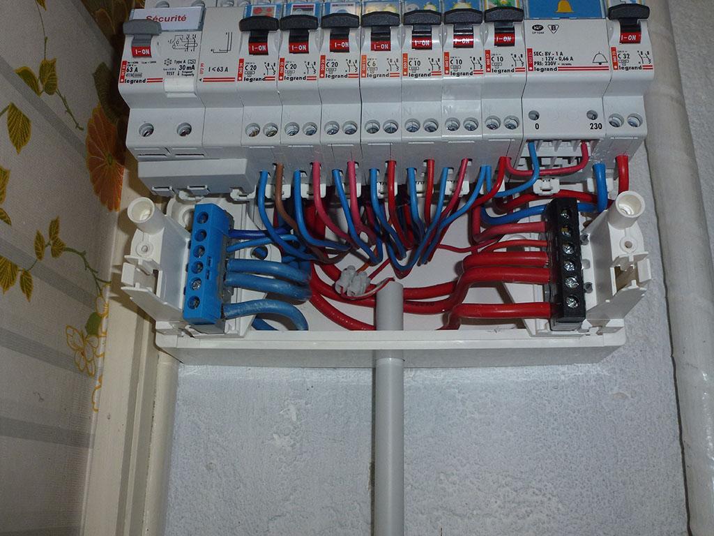 Bornier tableau electrique - Installation d un tableau electrique ...