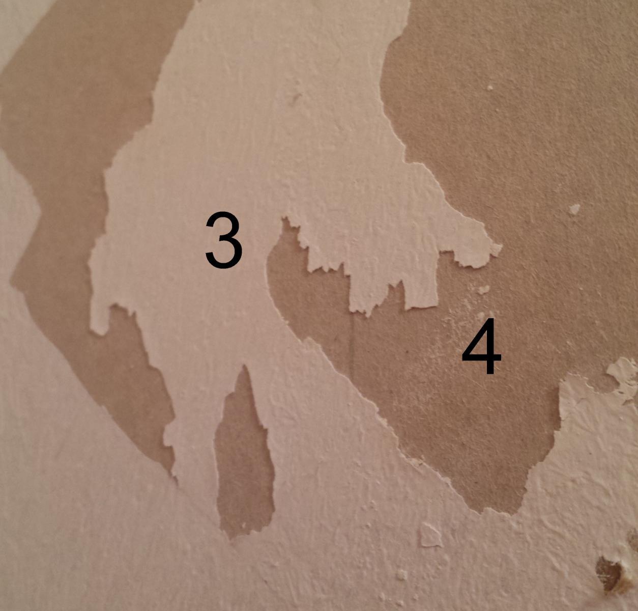 décollage papier peint et préparation mur à peindre - Peindre Apres Avoir Enlever Du Papier Peint