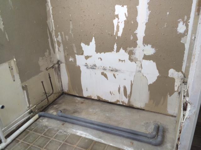 R novation salle d 39 eau carton placo s 39 enl ve - Enlever humidite salle de bain ...