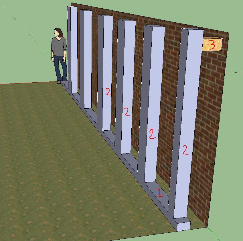 fixer des r48 sur plafond autoportant. Black Bedroom Furniture Sets. Home Design Ideas
