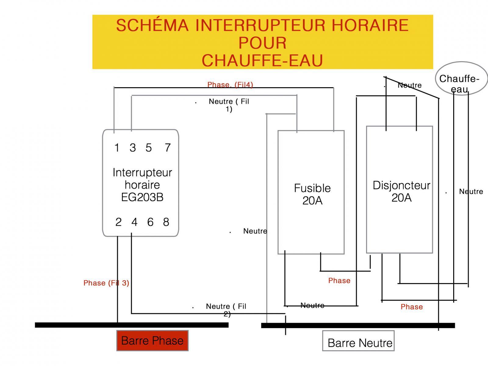 raccorder interrupteur horaire eg203 b hager. Black Bedroom Furniture Sets. Home Design Ideas