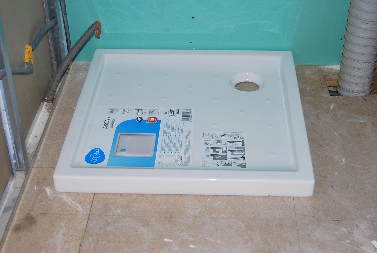 Pose receveur douche sur plancher etanch it for Pose d un bac a douche extra plat