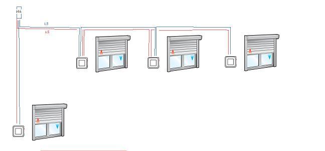 Raccordement Des Volets Roulant Electrique