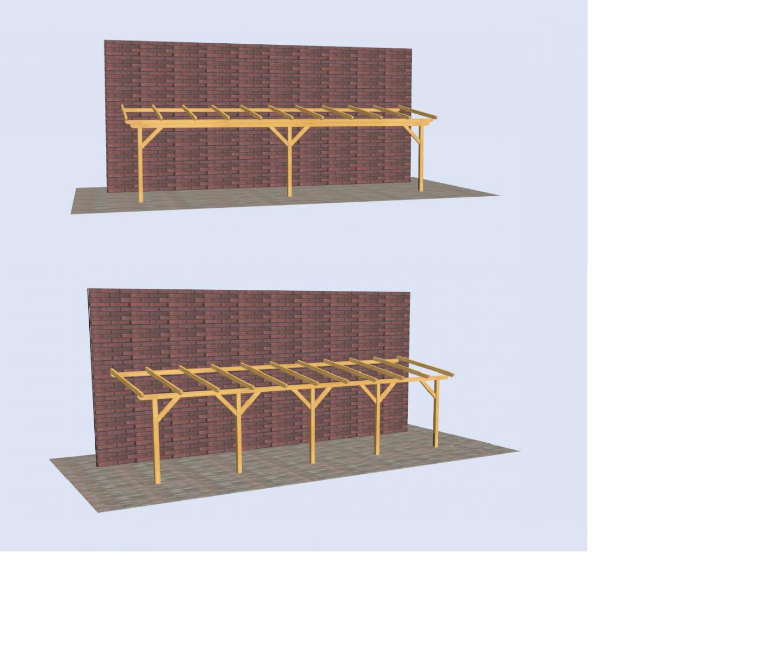 fabrication d 39 un carport accol la maison. Black Bedroom Furniture Sets. Home Design Ideas
