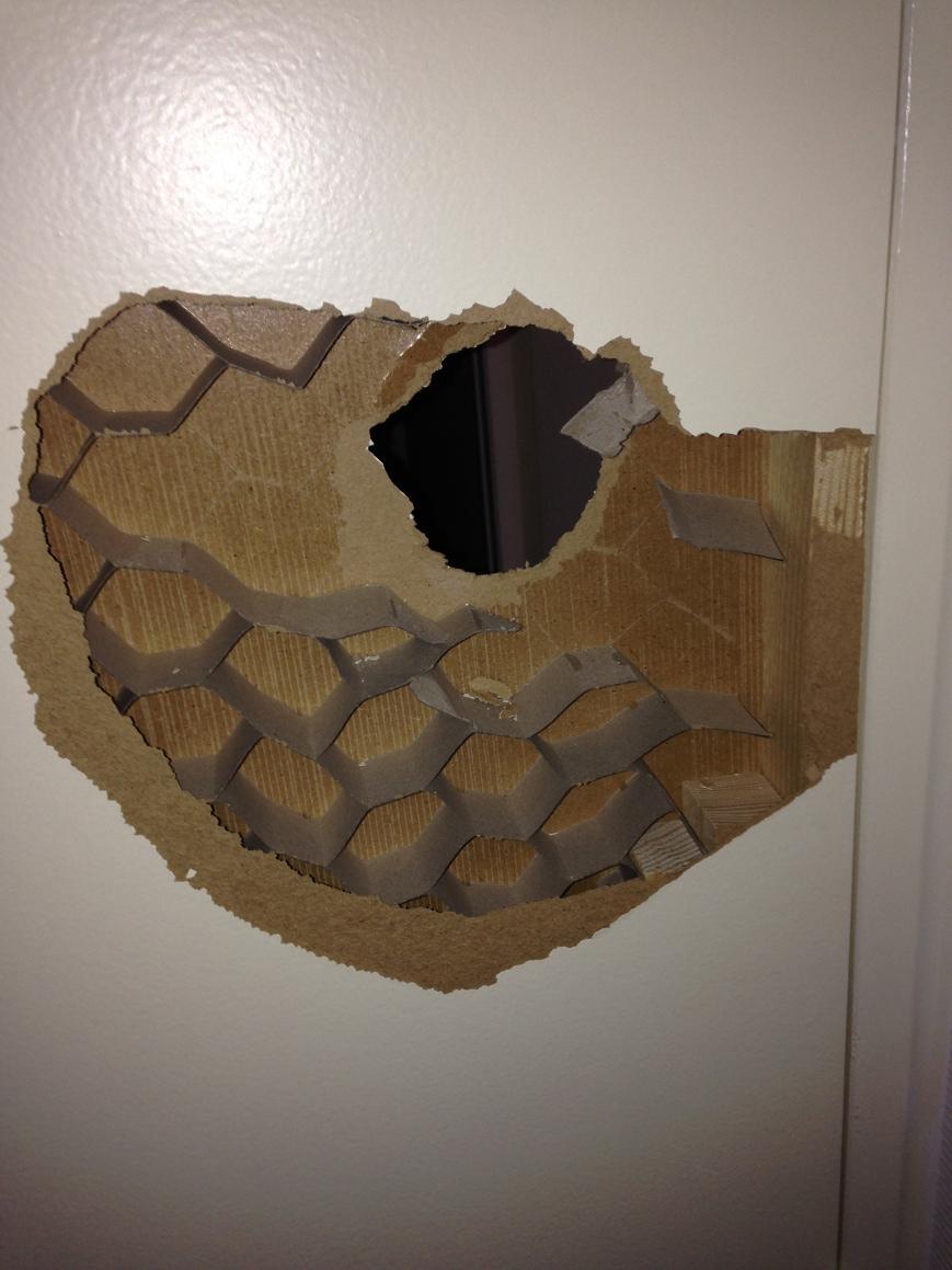 Trou porte interieur isoplane alv ol - Doigt coince dans une porte que faire ...