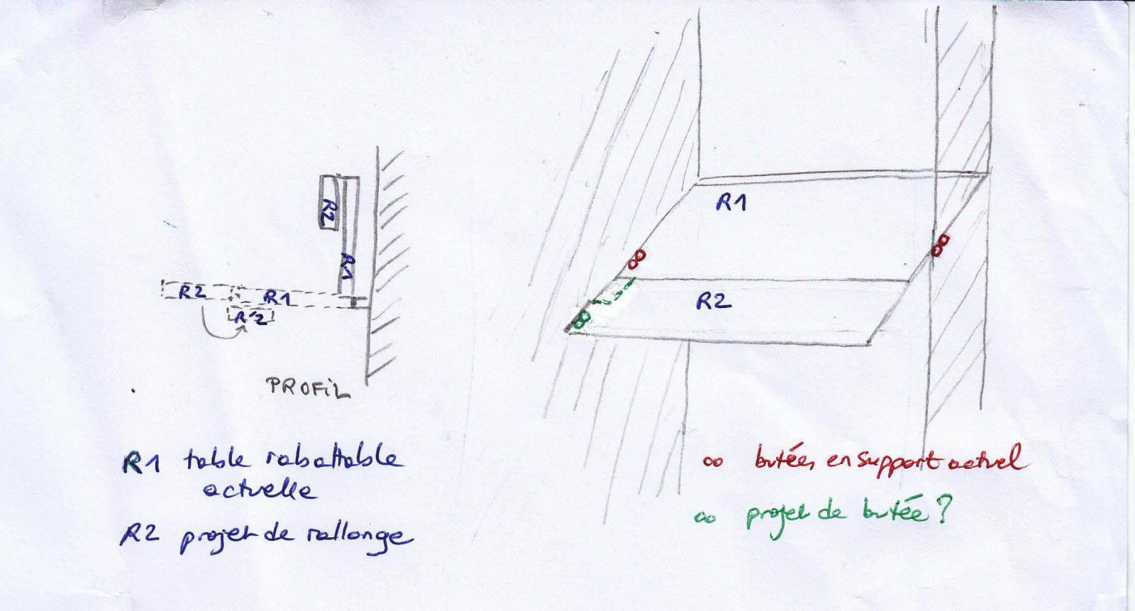 rallonge pour table rabattable. Black Bedroom Furniture Sets. Home Design Ideas