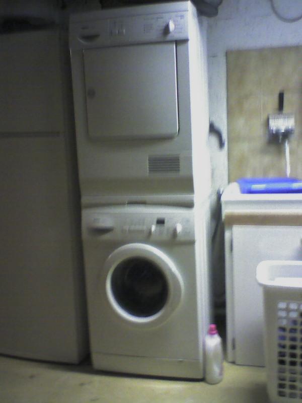 Support de lave linge - Seche linge sur machine a laver ...