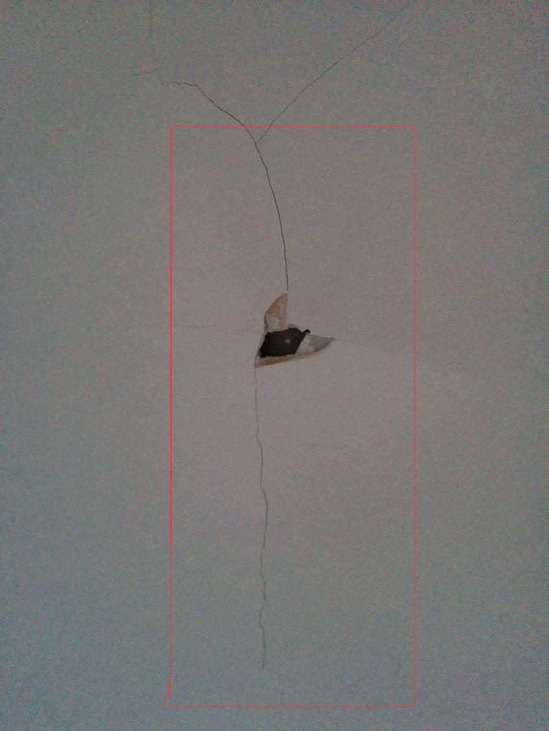 r u00e9parer trou dans le plafond