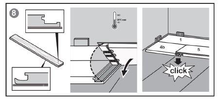 parquet flottant clips et chambranle de porte. Black Bedroom Furniture Sets. Home Design Ideas