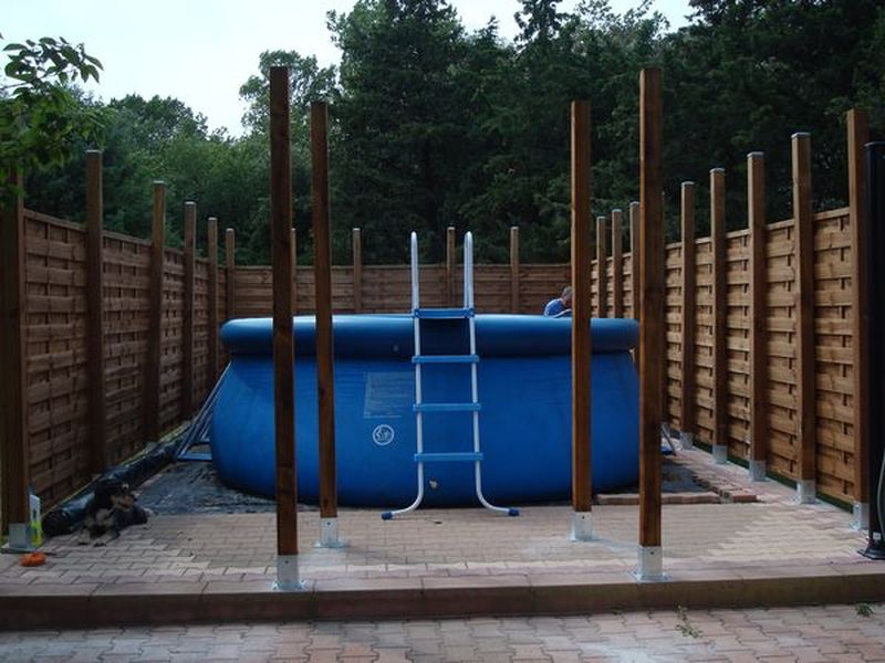 Piscine en pente for Construction piscine sur terrain non constructible