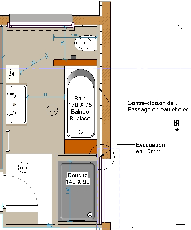 vacuation salle de bain. Black Bedroom Furniture Sets. Home Design Ideas