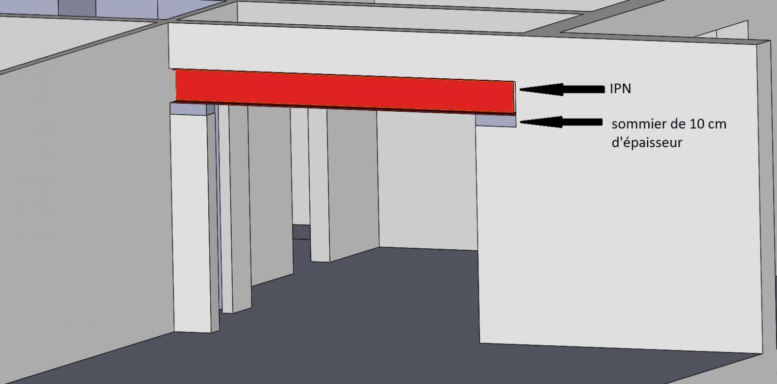 Ouverture de deux mur porteur conseiller moi svp - Remplacer un mur porteur par un ipn ...