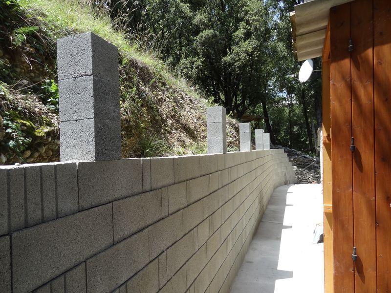 Mat riaux pour mur de sout nement et mur de cloture - Ferraillage fondation muret ...