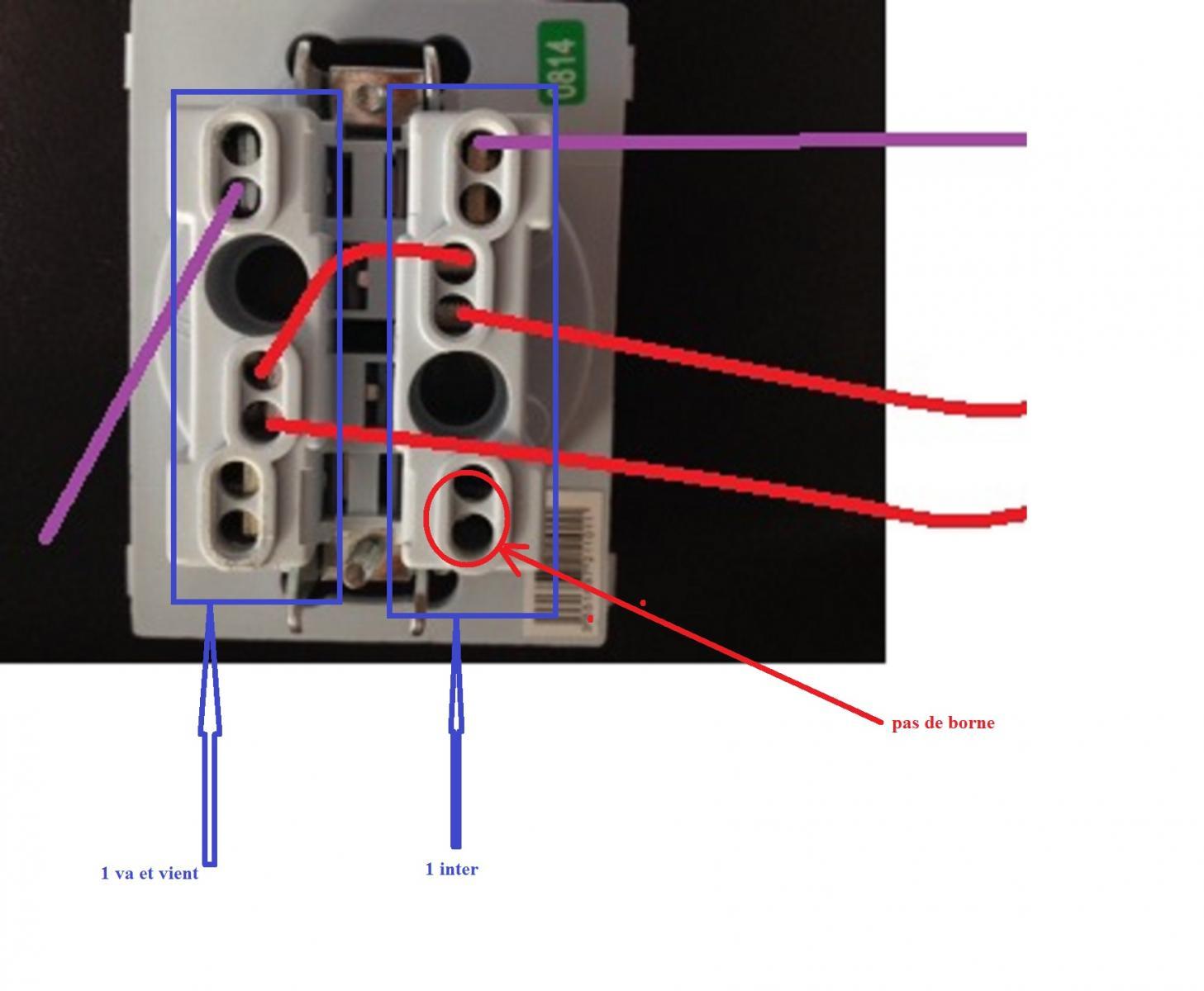 Help comment brancher un double interrupteur - Brancher un interrupteur double ...