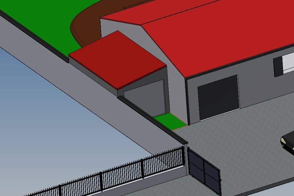 construire un garage attenant une maison et sur cl ture existante. Black Bedroom Furniture Sets. Home Design Ideas