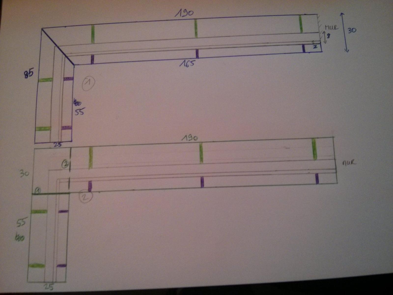 Pose d 39 un plan de travail pour finaliser un bar - Largeur d un plan de travail cuisine ...