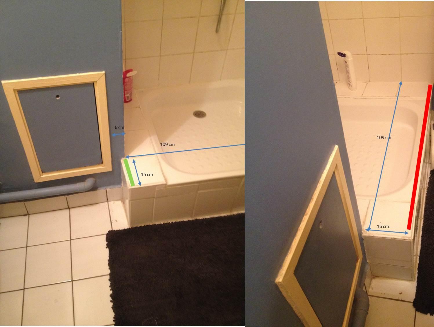 Comment fixer le profile d39une porte de douchesans mur for Comment poser une porte de douche