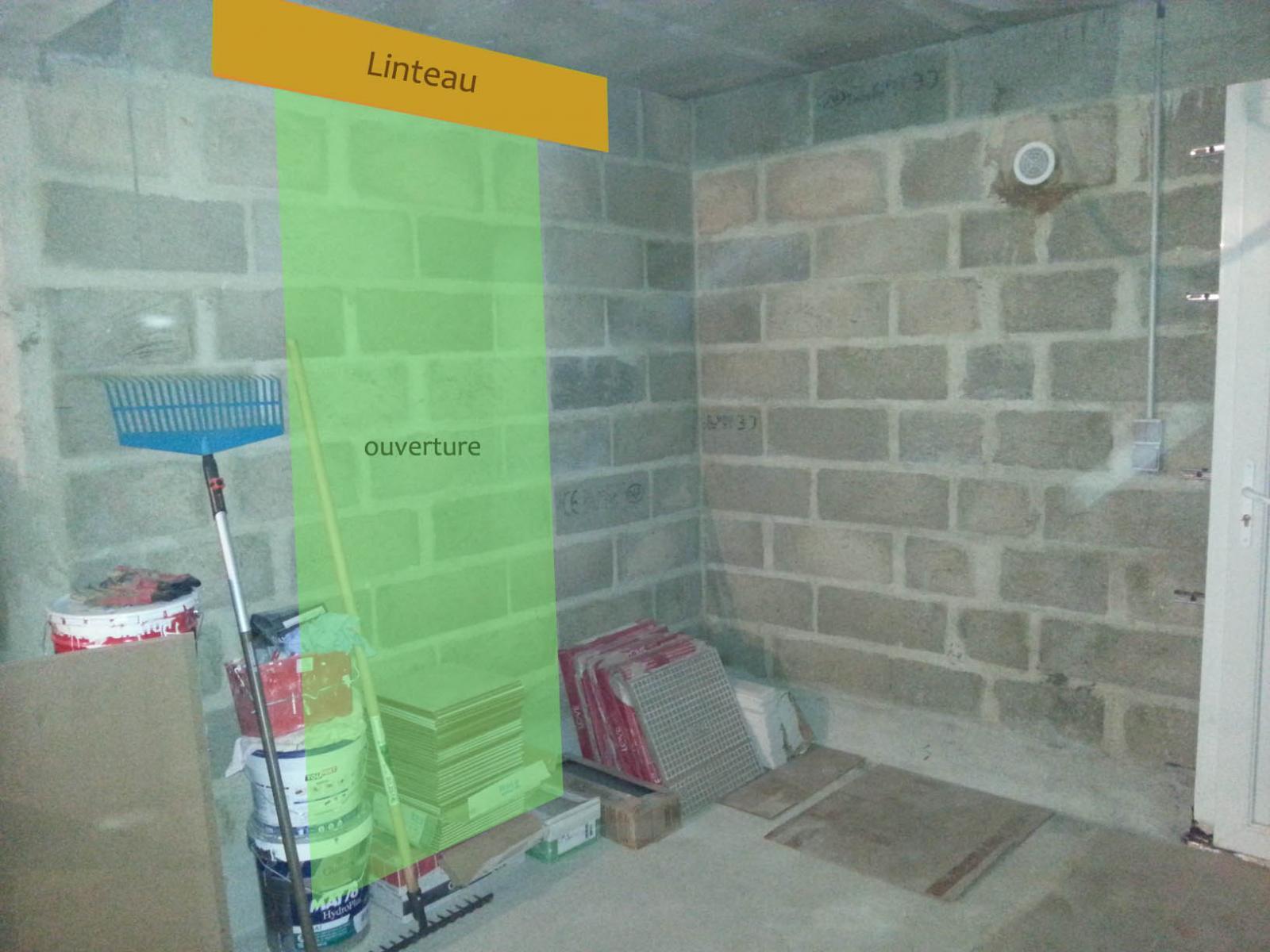 cr�ation d'une ouverture au sous-sol pour salle de jeux